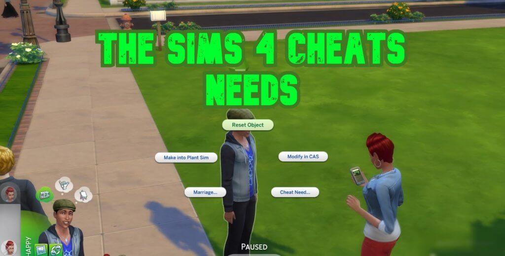 The Sims 4 Needs Cheats and Sims 4 Max Fill Need Cheats