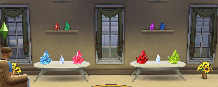 sims 4 crystals collections